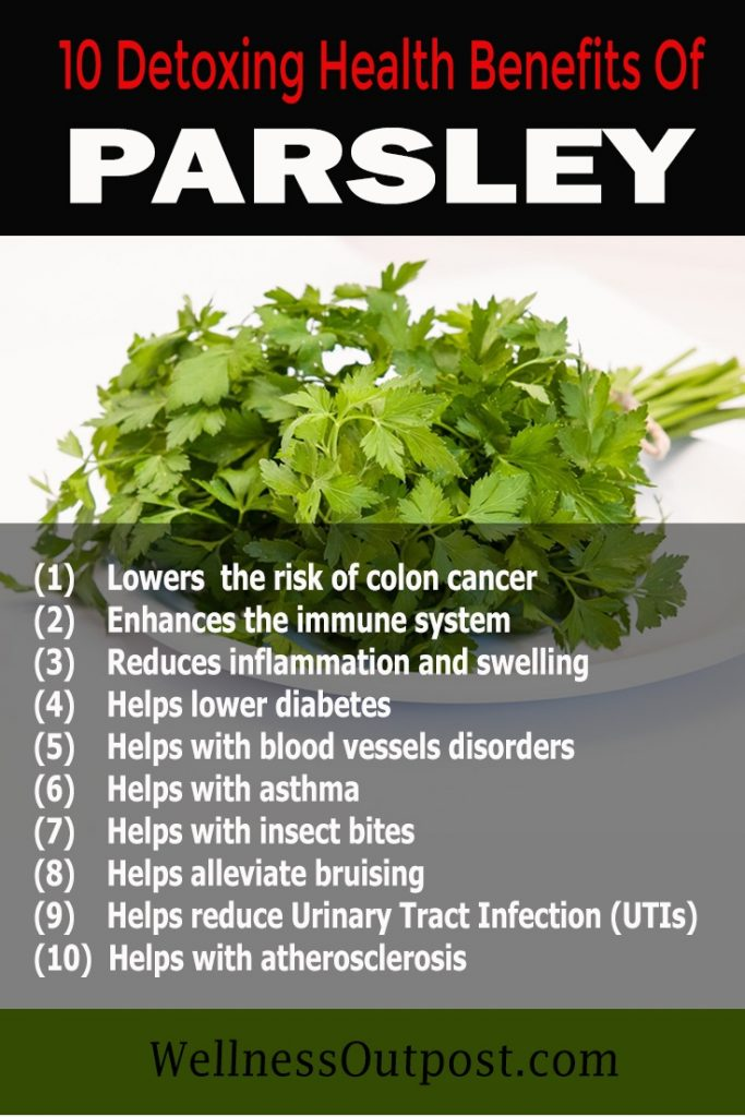Parsley benefits pin
